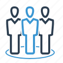 affiliate, community, group, management team icon