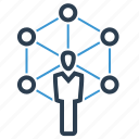 community network, connection, social, teamwork icon