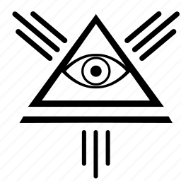 eye, illuminati, pyramid, triangle icon