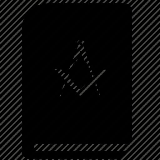 bill, book, illuminati, law icon