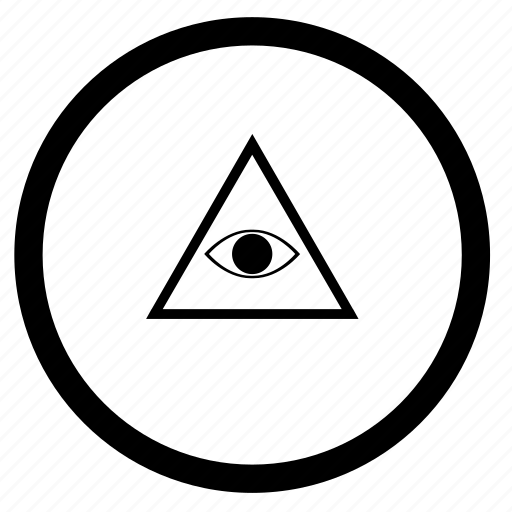 illuminati, pyramid, round, triangle icon