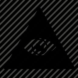 Eye, illuminati, label, pyramid, sect, sign icon | Icon ...