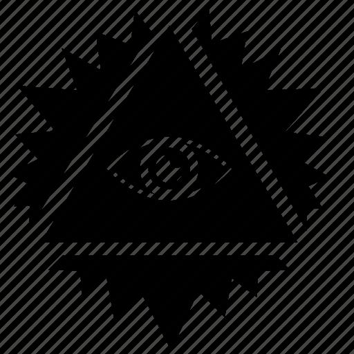 illuminati, pyramid, shine, sun, triangle icon