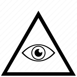 border, eye, frame, illuminati, triangle icon