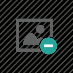 delete, error, image, minus, picture, remove icon