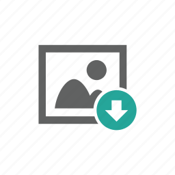 arrow, down, download, downloaded, image, picture icon