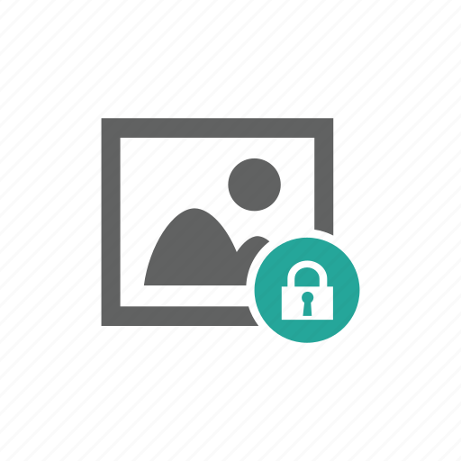 image, lock, password, picture, protect, security icon