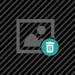 delete, image, picture, trash, trash bin icon
