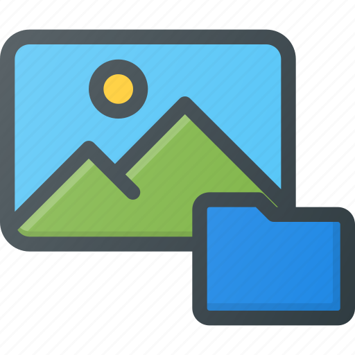 folder, image, photo, photography, picture icon