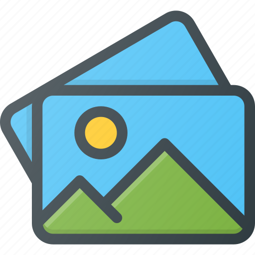 image, images, photo, photography, picture, stack icon