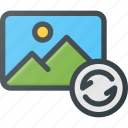 image, photo, photography, picture, refresh, reload icon
