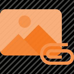 attache, image, photo, photography, picture, send icon