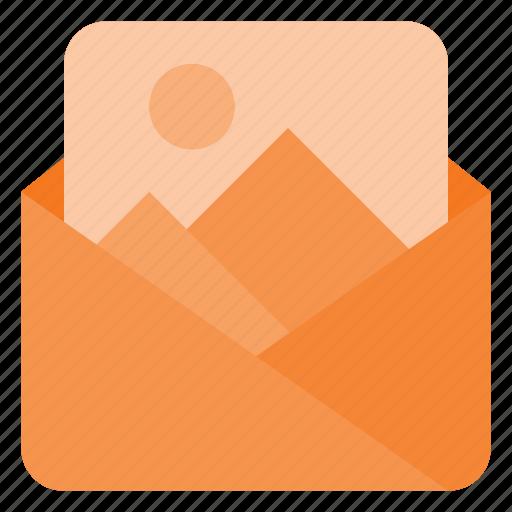 attache, image, mail, photo, photography, picture, send icon