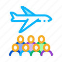 aircraft, baggage, immigration, passengers, passport, person, refugee icon