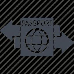 document, immigration, passport, travel icon