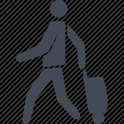 immigration, luggage, suitcase, travel icon