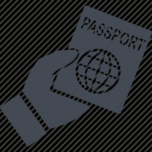 immigration, passport, password, security icon