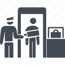 customs control, immigration, police, security icon
