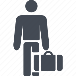 briefcase, immigrant, immigration, suitcase icon