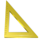 measure, ruler, triangle icon