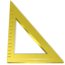measure, ruler, triangle icon
