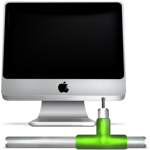 Apple, computer, imac, monitor, network, screen icon ...