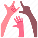 dance, fun, hands, nightclub, party, people, up icon