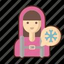 arctic, explorer, female