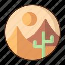 desert, landscape, nature, cactus