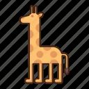giraffe, animal, wild, nature