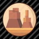 plateau, landscape, desert, nature
