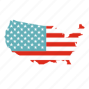 america, american, american map, map, state, us, usa icon