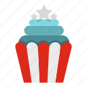 dinner, eat, fast, food, long, popcorn, snack icon