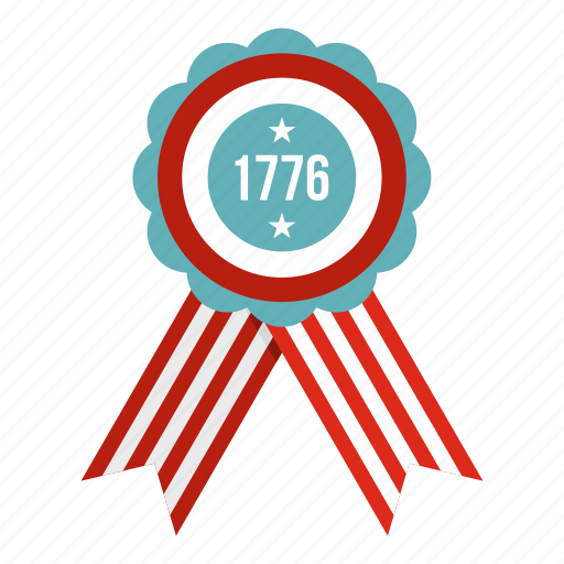 america, american emblem, flower, number, patriotic, ribbon, round icon