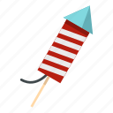 date, day, decoration, explode, fireworks, july, petard icon