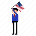 celebration, day, flag, independence, states, united, usa icon
