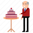 cake, celebration, day, independence, states, united, usa icon
