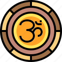 religion, om, indian, hinduism icon