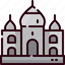 building, india, landmark, mahal, taj icon