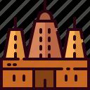 bodh, gaya, india, landmark, mahabodhi, temple