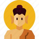 avatar, buddha, buddhism, india icon
