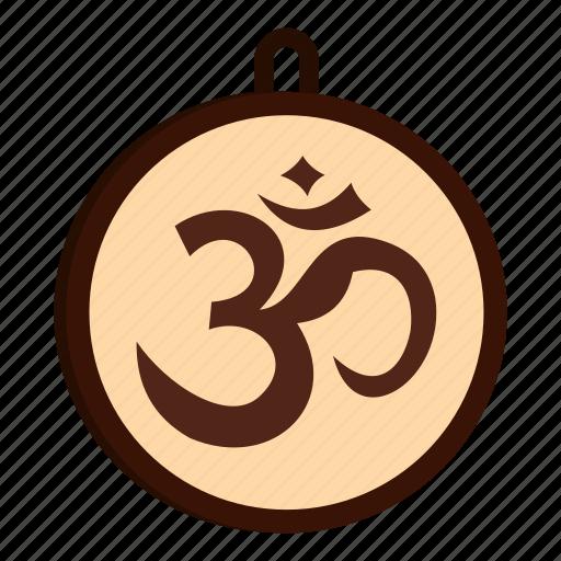 Hindu Hinduism India Om Religion Religious Yoga Icon