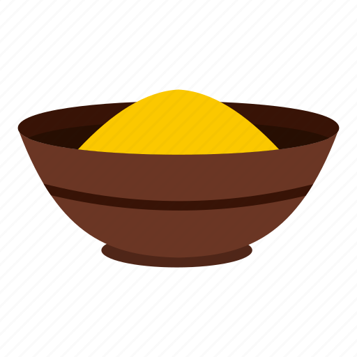 bowl, curry, food, india, powder, spice, turmeric icon
