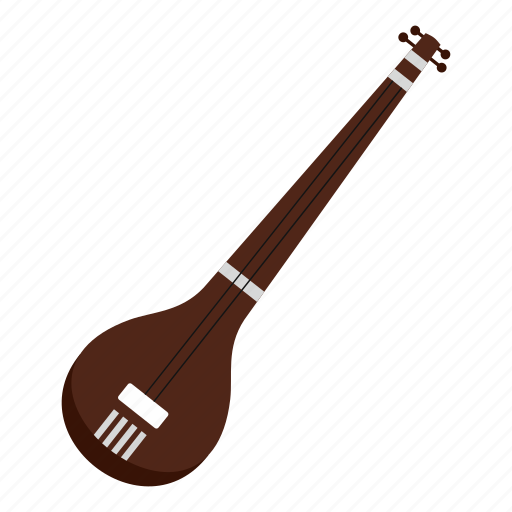 india, indian, instrument, music, musical, sarod, string icon