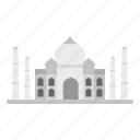 agra, architecture, asia, building, india, mosque, taj mahal icon