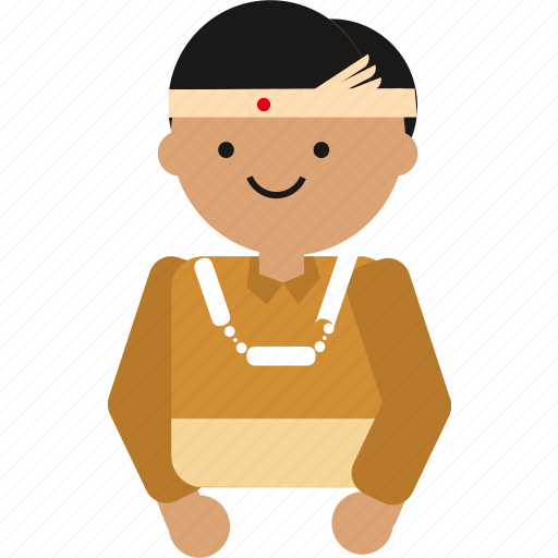 Indonesian, people, borneo, indonesia, culture, etnic, man icon