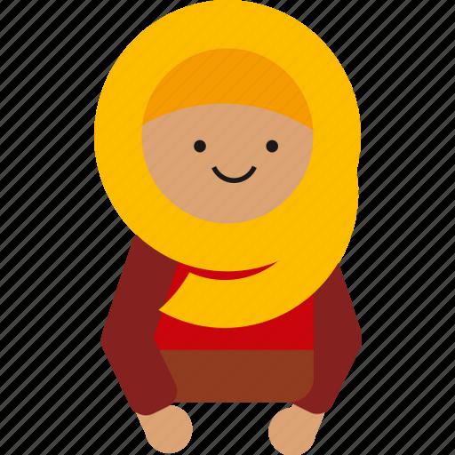 culture, cute, etnic, hijab, indonesia, indonesian, woman icon