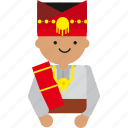culture, etnic, indonesia, indonesian, man, people, sumatera icon