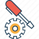 cog, cogwheel, edit, preferences, screwdriver, settings, setup icon