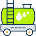 fuel tanker, fuel truck, gas, oil container, oil delivery icon